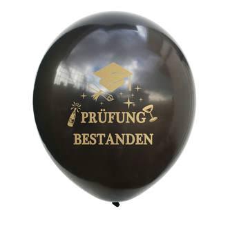 Konfetti Luftballon Set 10 Stk. Prüfung bestanden Schulabschluss Abitur Studium