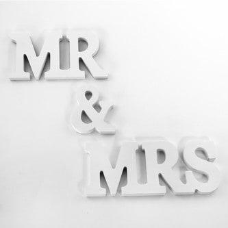 Mr & Mrs Deko Buchstaben Holzbuchstaben Hochzeit Dekoration - Holz