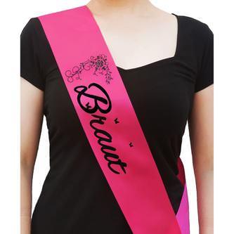 Schärpe Braut + Braut Security Set JGA Hen Party Bride to be pink