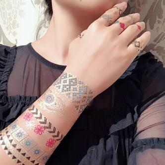 Temporäre Klebetattoos Schmuck Armband Tattoos Tättowierung gold