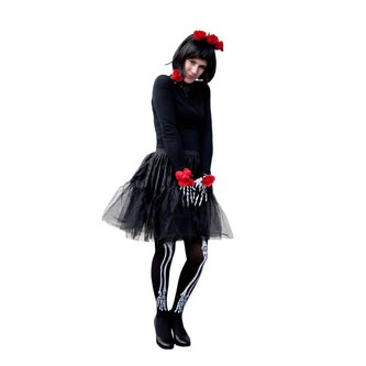 Rosen Haarreifen Haarreif Tag der Toten La Catrina Halloween Karneval Fasching