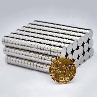Neodym Magnet N38 ø 8 x 3 mm