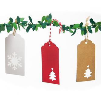 20 Geschenkanhänger Weihnachtsbaum Deko Anhänger - rot Weihnachtsbaum