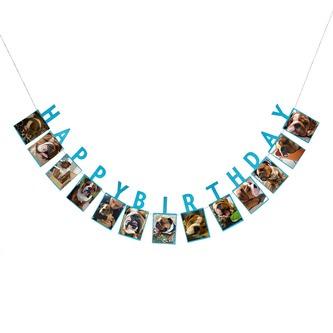Happy Birthday Girlande für Jungen für eigene Fotos Kinder Geburtstag