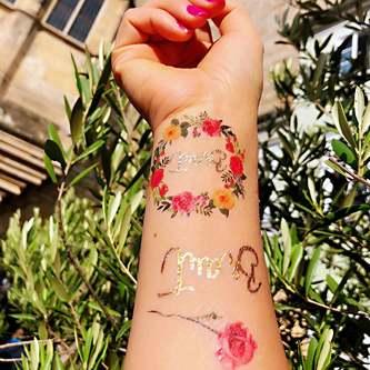 Temporäre Klebetattoos Tattoo Junggesellinnenabschied JGA Braut - Team Braut