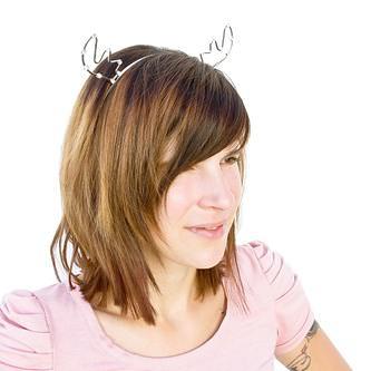 Haarreifen Rentier Geweih Metall Haarreif Elchgeweih Fasching Karneval