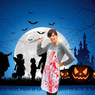 Halloween Metzger Schürze blutig Blut befleckt Fasching Karneval