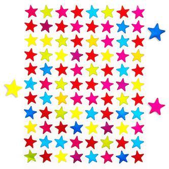 880 Stern Sticker Sterne Aufkleber Gänzend Scrapbooking - bunt
