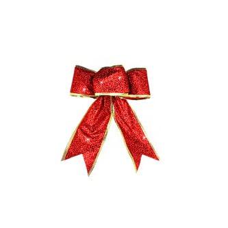 Geschenk Band edler Glitzereffekt Geburtstag Weihnachten - rot