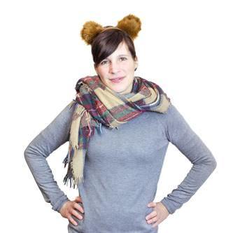 Haarreifen süße Teddy Bär Ohren Haarreif Fasching Karneval Party