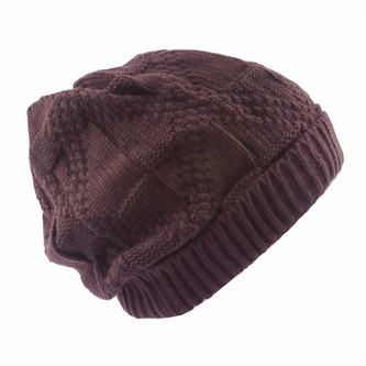Long Beanie XXL Winter Strick Mütze Slouch Damen Herren Kinder - braun