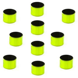 Reflektorbänder Set Schnapparmband Klatscharmband reflektierend