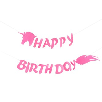 Happy Birthday Einhorn Girlande 2m Unicorn Kindergeburtstag Party Deko