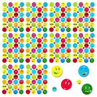 390 Smiley Sticker Aufkleber Face Lächeln Smily Scrapbooking - bunt