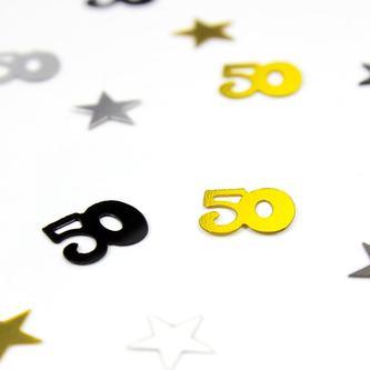 Konfetti 50 Geburtstag Jubiläum Streudeko Streuteile Deko 500 Stk