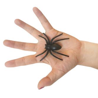 6x Spinnen groß Halloween Fasching Karneval Tisch Deko - schwarz