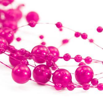 Perlenschnur Perlen Girlande Tisch Deko Hochzeit Feier Jubiläum - pink