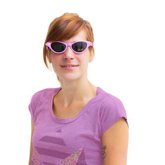 Sonnenbrille Retro Vintage 50er 60er Jahre Stil Damen - rosa