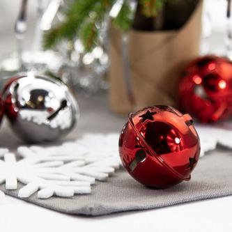 12 Weihnachtsglöckchen Tischdeko Weihnachtsbaum Weihnachtsdeko silber