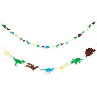 Dino Girlande 4m Dinosaurier Kinderzimmer Deko Kinder Geburtstag Party