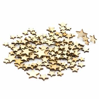 100 Holzsterne Holz Sterne Mini Holz Dekoration