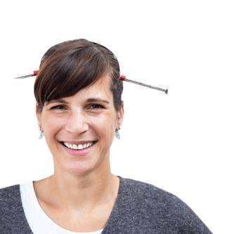 Halloween Haarreifen Nagel durch Kopf - Prank Horror Karneval Fasching