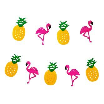Hawaii Girlande Sommer Party Deko Banner mit Flamingos + Ananas