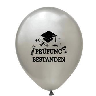 Konfetti Luftballon Set 8 Stk. Prüfung bestanden Schulabschluss Abitur Studium