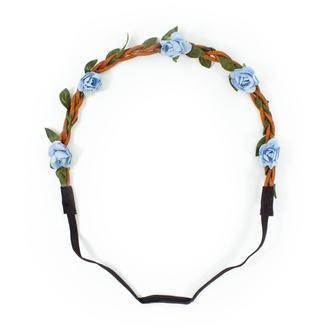 Blumen Haarband Stirnband Haarschmuck Bohemia Kopfschmuck - hellblau