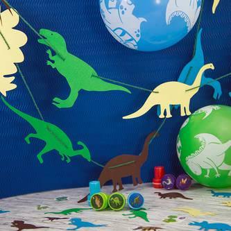 Dino Konfetti 24 Stk. bunt Kinder Geburtstag Dinosaurier Tisch Deko Streudeko