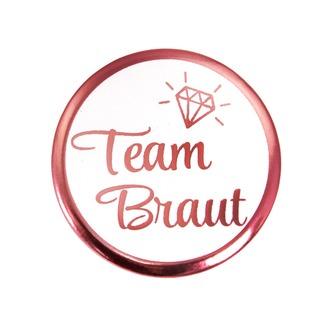 Button Set JGA Junggesellinnenabschied Rosé - 1x Braut / 9x Team Braut