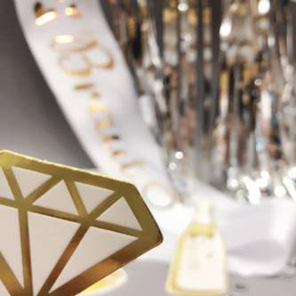 Lametta Vorhang Dekoration Party Feier Fasching Karneval - silber