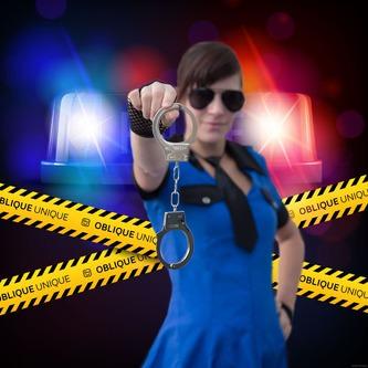 1x Handschellen Metall Spielzeug Halloween Karneval Fasching Polizei