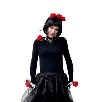 Damen Kette Gothic Collier Spitze - Halskette