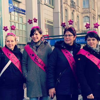 Schärpe Braut + Team Braut Set JGA Junggesellinnenabschied pink
