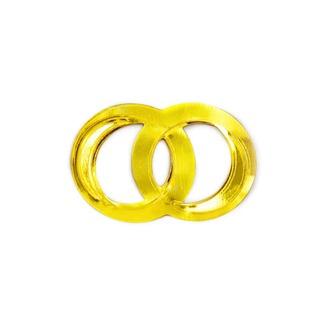 Konfetti Doppelringe Ringe Streudeko Tischdeko Hochzeitsdeko - gold