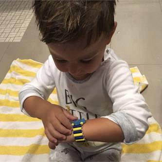 Kinder Holzuhr Set 12 Stk. Lernuhr Kinderuhr zum Uhrzeit Lernen Spielen