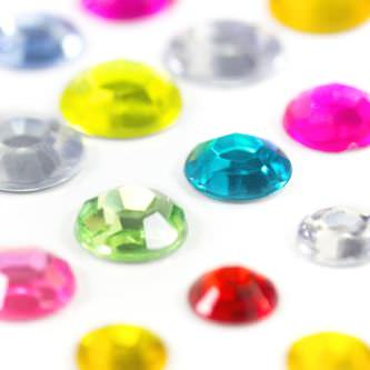 160 Kreise Sticker Aufkleber selbstklebend Verzierung Deko Steine