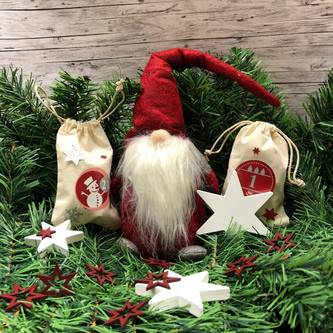 24 Adventskalender Sticker Zahlen Aufkleber Weihnachten Basteln Weihnachtsdeko - rot